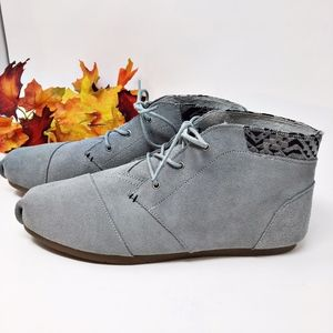 BOBS Gray Luxe Rustic Sole Suede Bootie Sz 10W